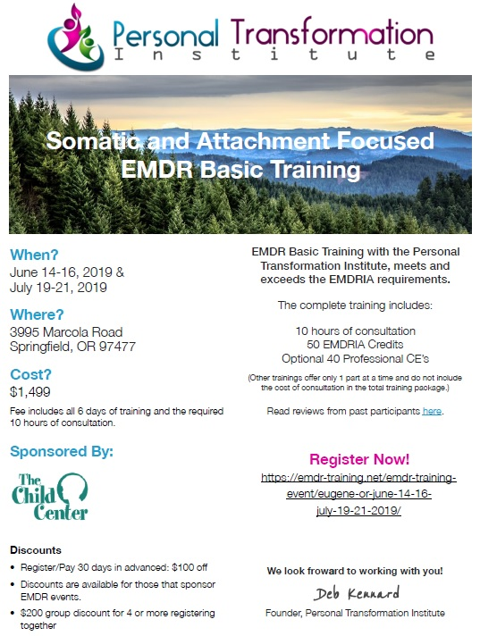 Somatic and Attachment Focused EMDR Basic Training